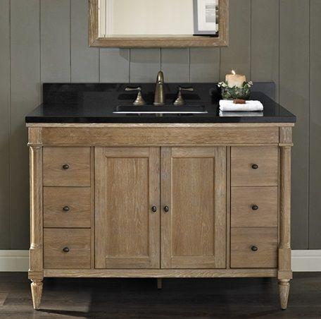 Best Rustic Chic 48 Vanity Weathered Oak Fairmont Designs 400 x 300