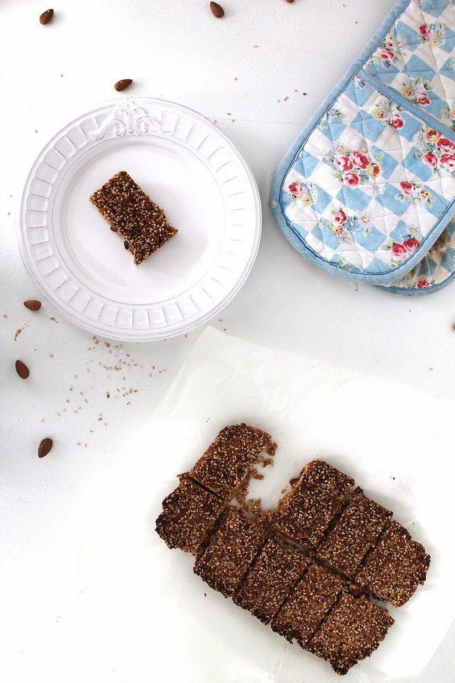 Use vegan honey. Almond-Coconut Sesame Bars    TWO SPOONS   Plant-based recipes worth sharing