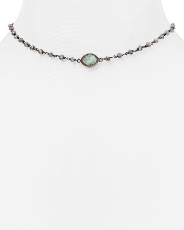 WE Fashion Labradorite Choker Necklace for Education zizj7