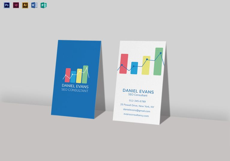 Seo Consultant Business Card Template Business Card Template Business Card Design Consultant Business