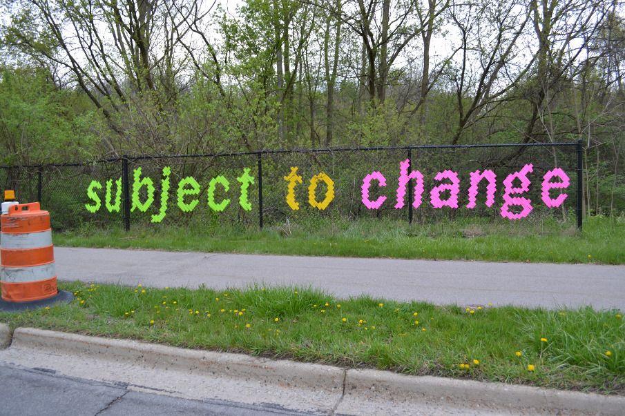 Subject To Change - LAMBCHOP | Fence art, Fence weaving, Art
