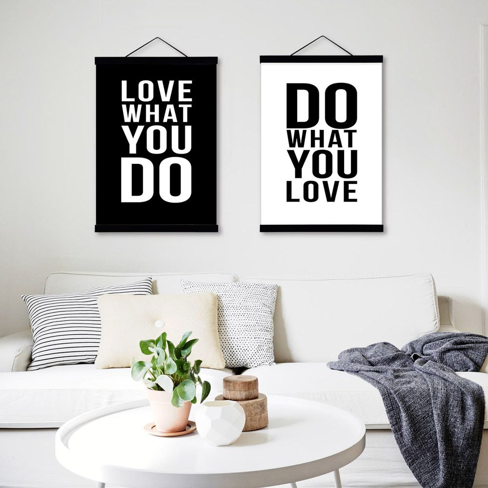 Love Quotes On Canvas Love Black White Modern Inspirational Poster Prints Canvas