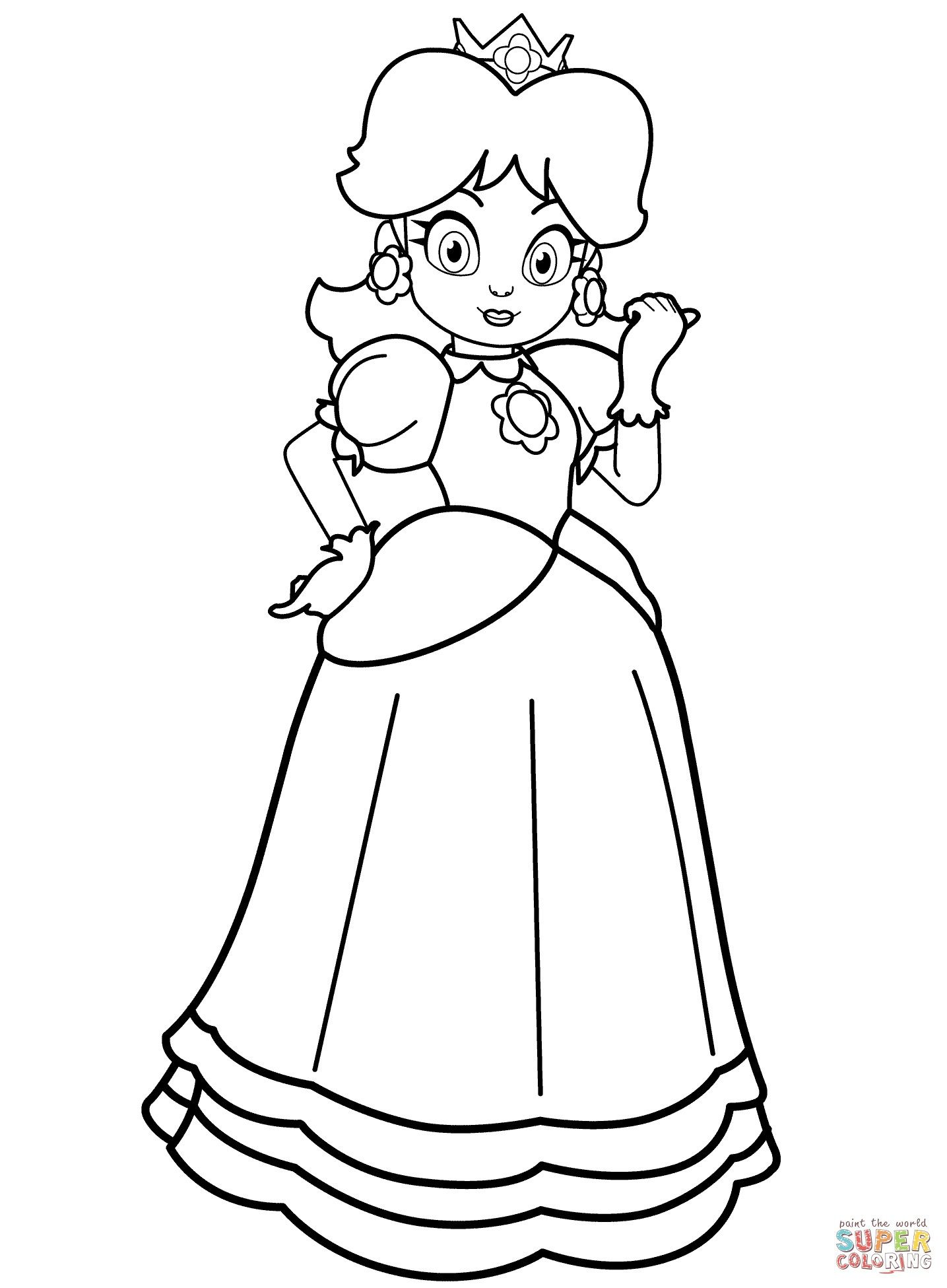 Princess Daisy Coloring Page From The Thousands Of Photos On The Net Regarding Princess Daisy Princess Coloring Pages Mario Coloring Pages Princess Coloring