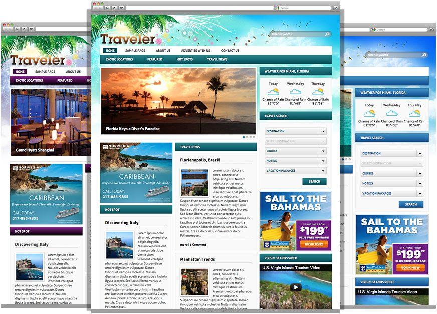 A beautiful WordPress Travel theme with a magazine layout ideal for - wordpress travel themes