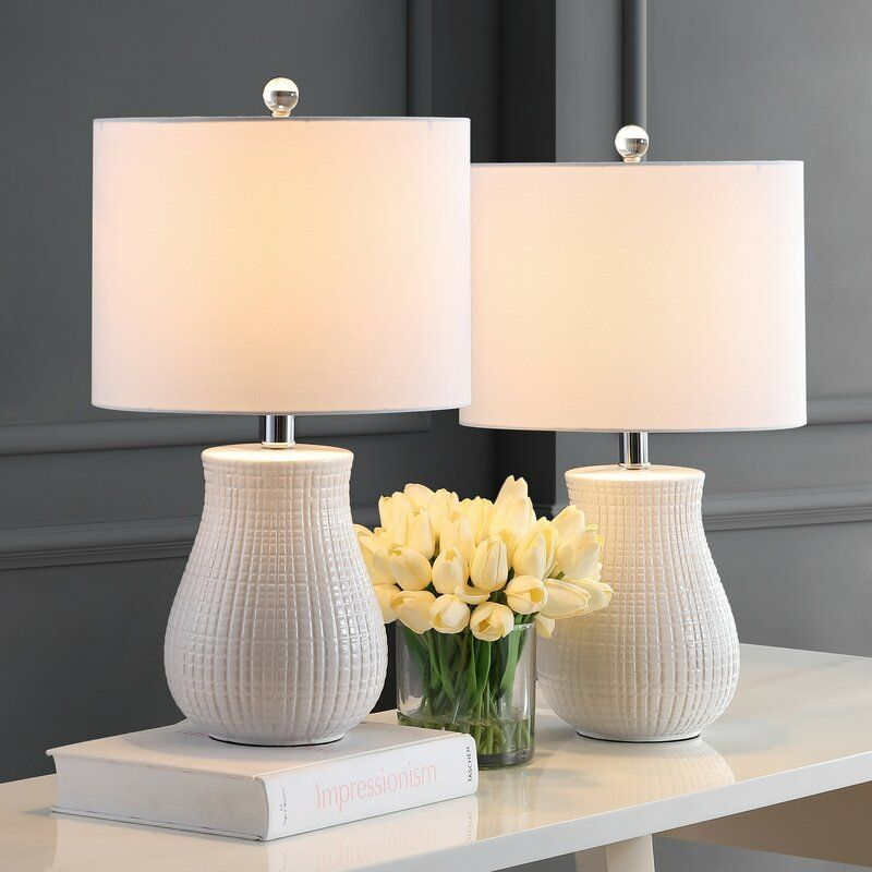 Ahrens White Table Lamp Set Table Lamps Living Room White Table Lamp Table Lamp Sets