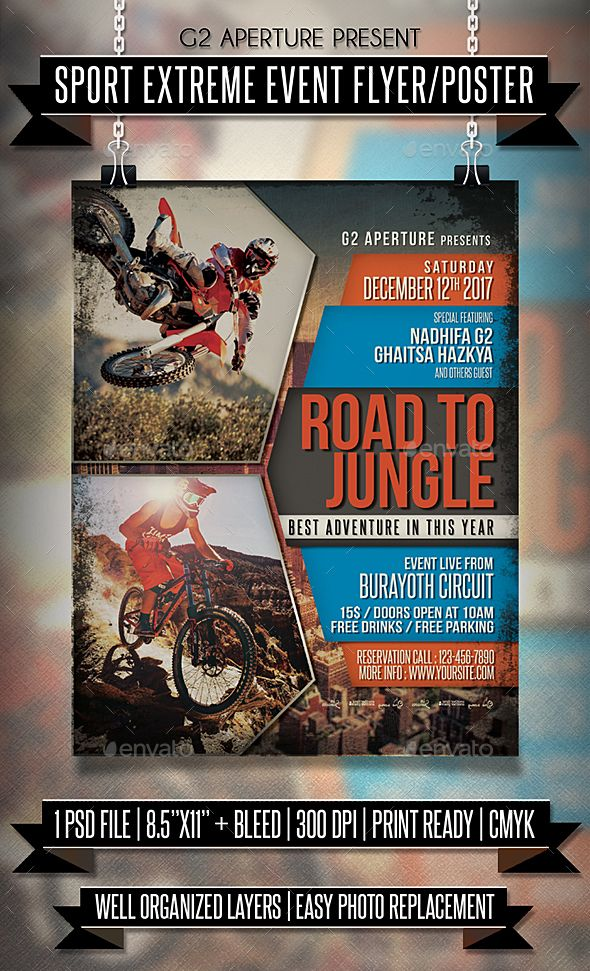 Sport Extreme Event Flyer \/ Poster Event flyers, Flyer template - car for sale flyer template