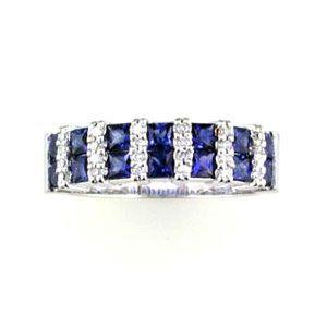 Sapphire and Diamond Ring @ Kranich's Jewelers.