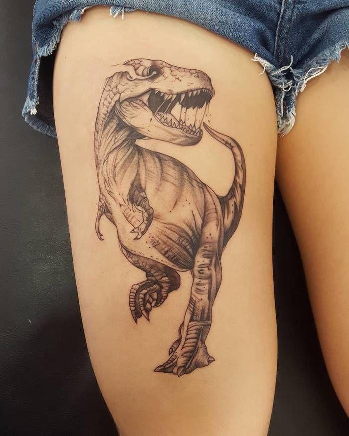 T-Rex Tattoo by andrepimentatattoo