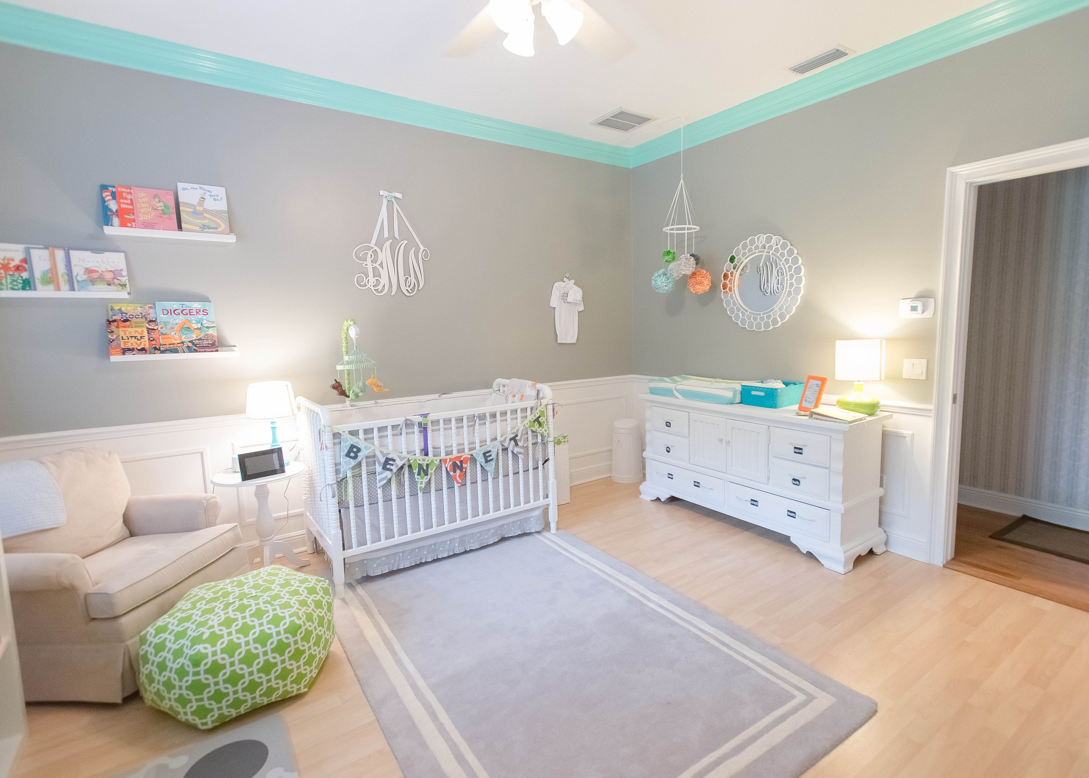 Bennetts Modern And Colorful Nursery Gray