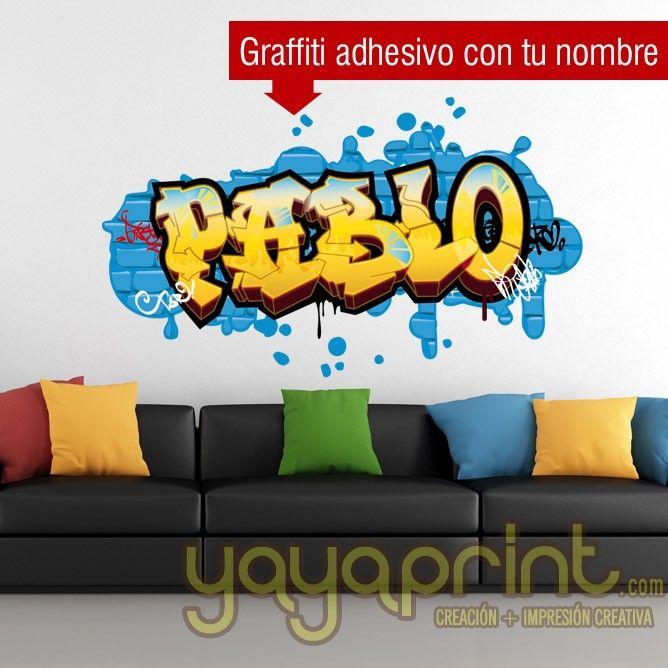 Grafiti de nombre pablo en vinilo para pegar for Vinilos habitacion juvenil nina