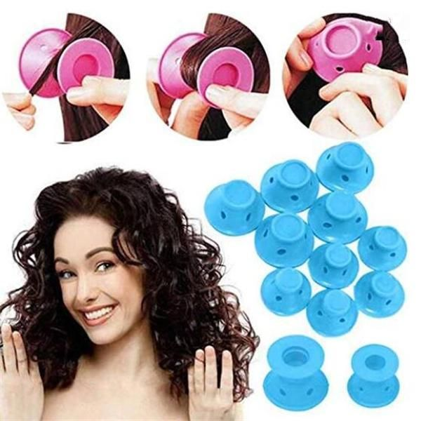 10pcs Heatless Silicone Rollers Hair Curlers Diy Hair Style Small Hai Liftupmart Hair Curlers Magic Hair Magic Hair Curlers