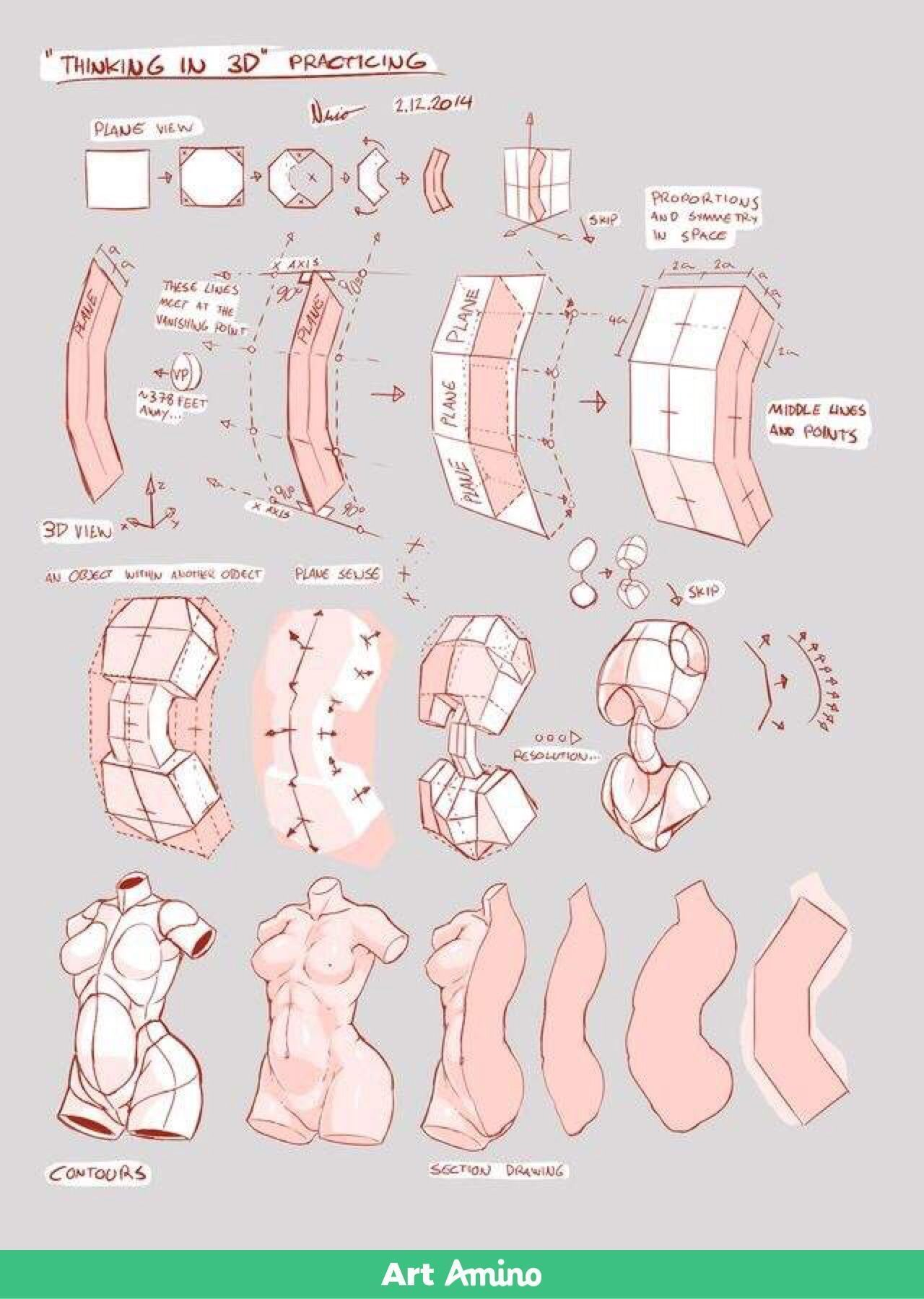 Female Anatomy-Drawing Tutorials #Female #Anatomy #Drawing #Tutorial ...