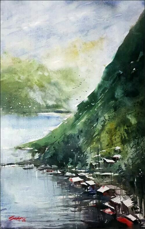 Watercolor Sell For Minimum Cost Online Painting Autumn