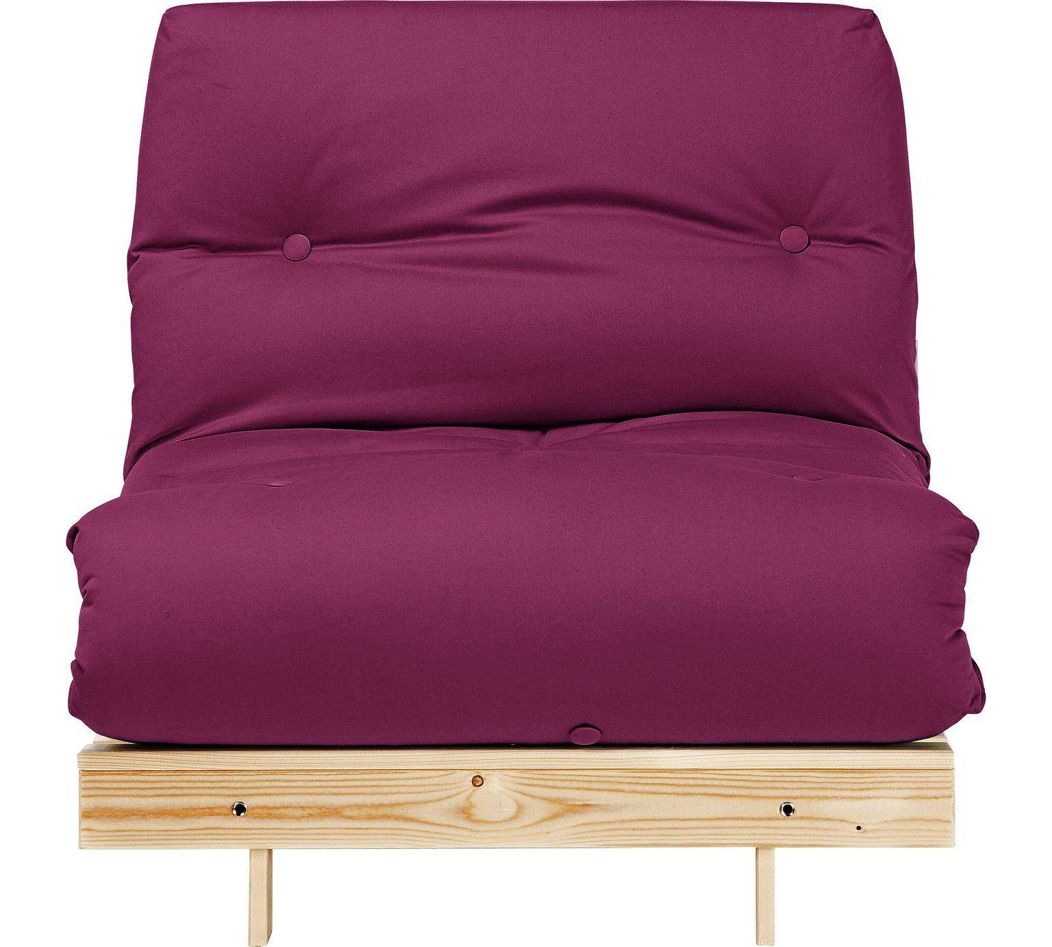 Buy HOME Single Futon Sofa Bed with Mattress Grape