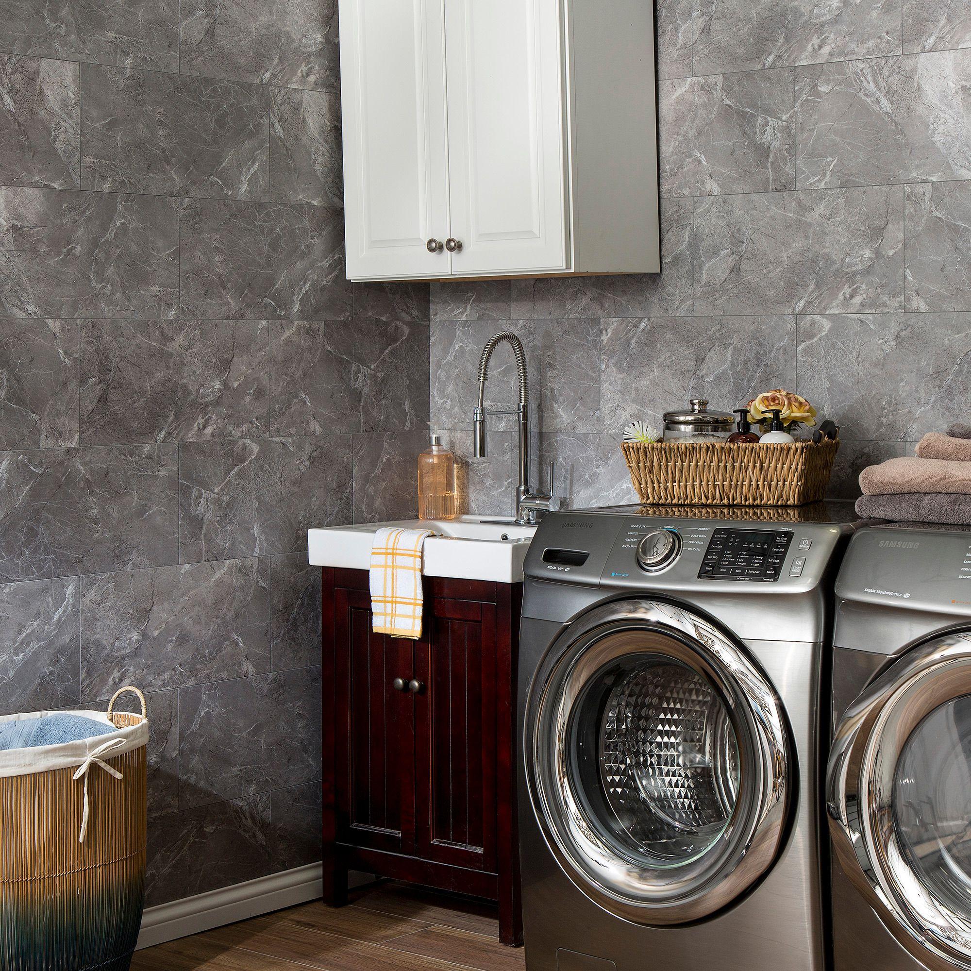 Dumawall Wall Panel In Light Gray Slate Slate Grey Tile Accent Wall Waterproof Wall Panels