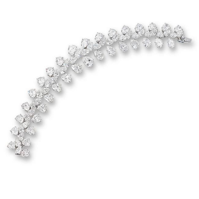 Sapphire, cultured pearl and diamond necklace, Harry Winston