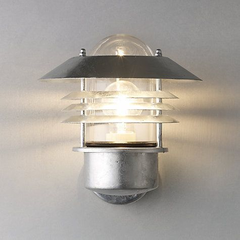 Buy Nordlux Vejers Outdoor Wall Light Galvanised Steel Online At Johnlewis Com