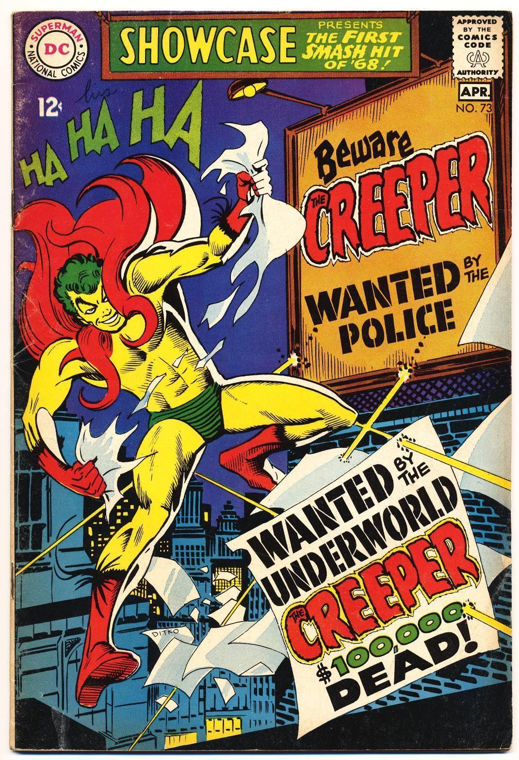 SHOWCASE 73 VG Origin 1st App The Creeper By Steve Ditko DC Comics 1968