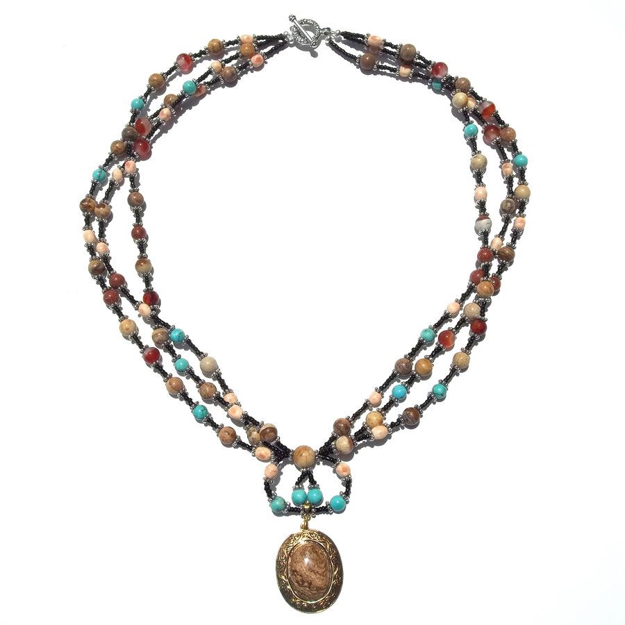 Sizzlin' Southwest Necklace, Sandy Turquoise by ~iaccidentlyarted on deviantART