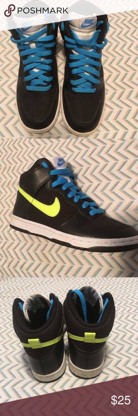 Black nikes, Nike high tops, Black nike