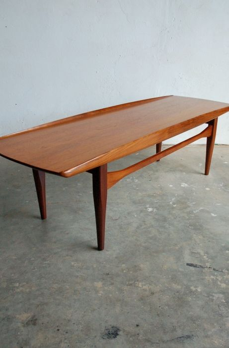 Danish teak coffee table by grete jalk osi modern for Danish modern coffee table