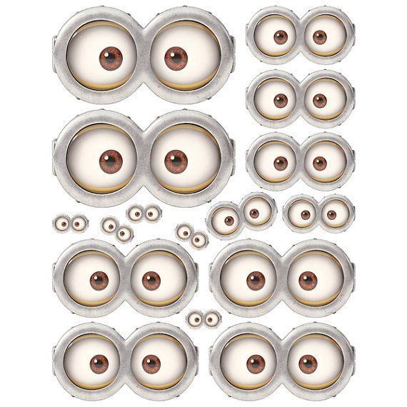 minion eyes for use in making minion cups for blue and gold