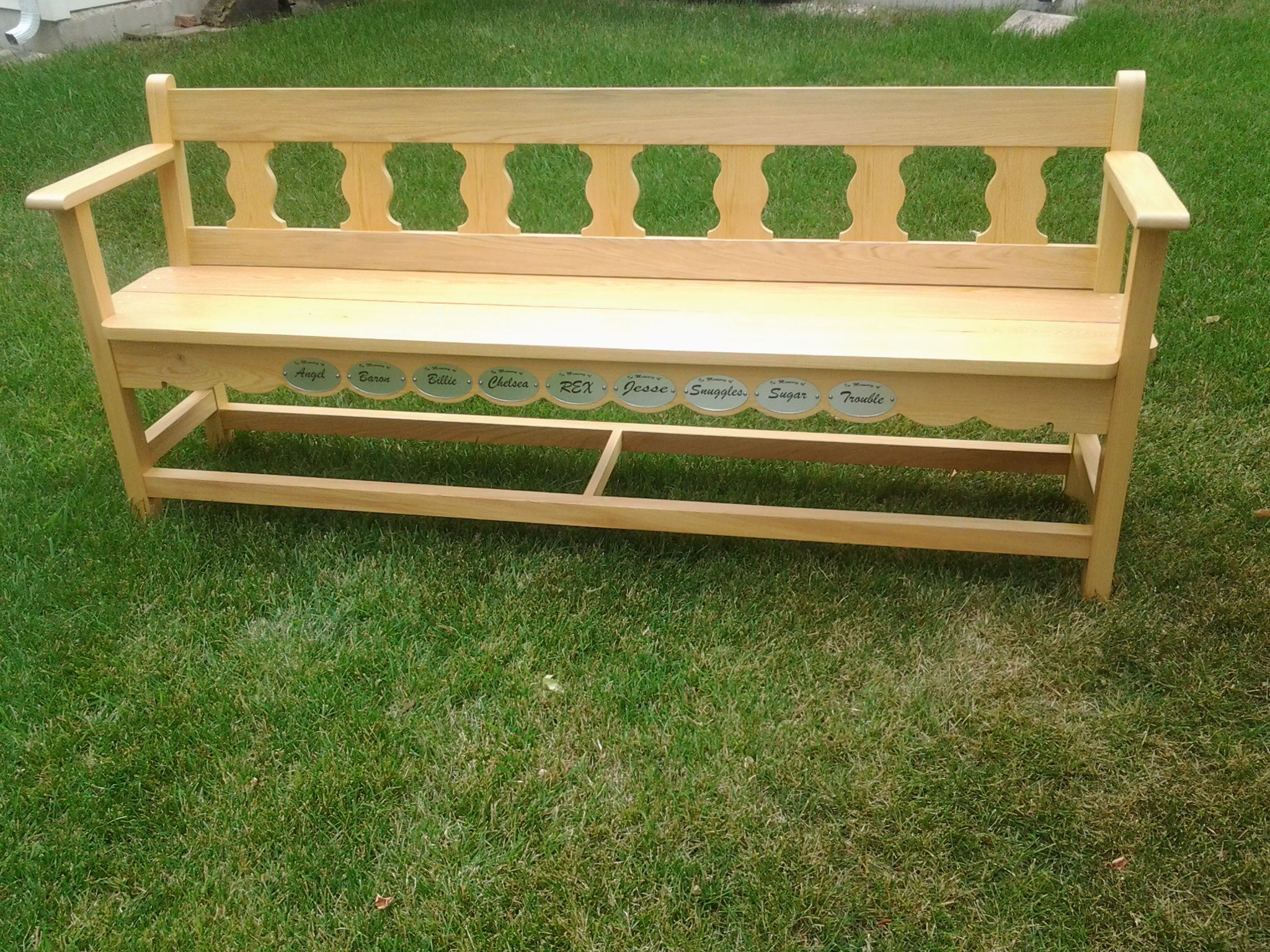 mexican styled garden bench