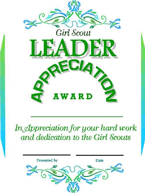 Girl scout leader apreciation certificate to save certificate on girl scout leader apreciation certificate to save certificate on your computer right click on yelopaper Gallery