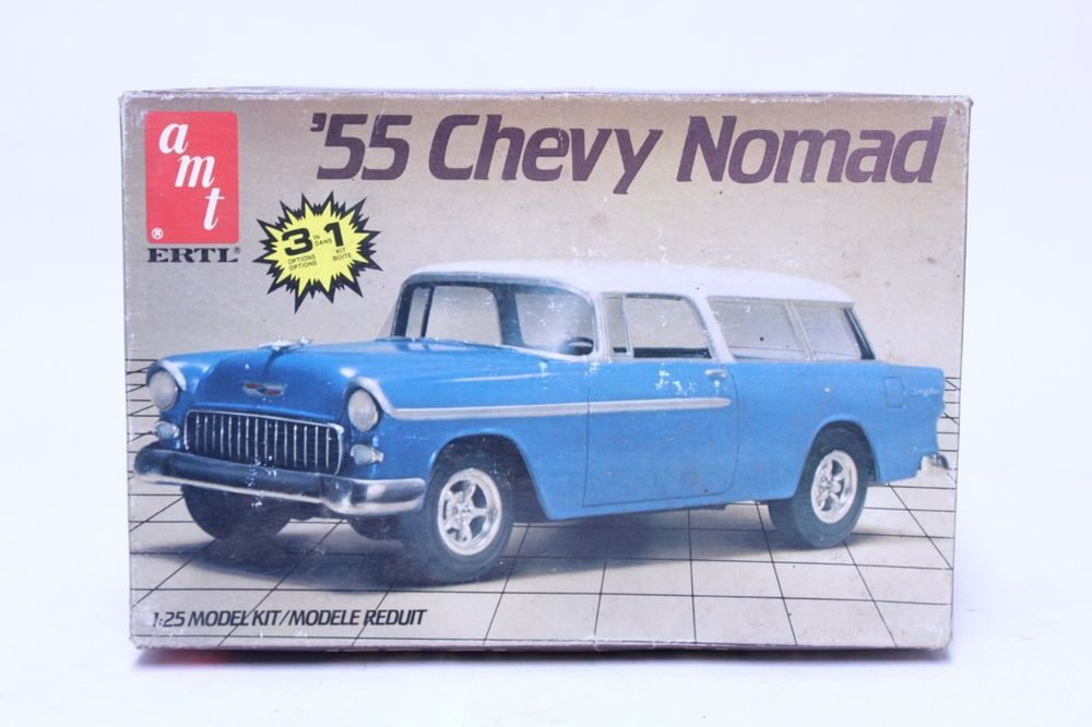 Amt 1 25 Scale 55 Chevy Nomad Model Kit Sealed Parts Bag Amt Chevy Nomad Model Kit 55 Chevy
