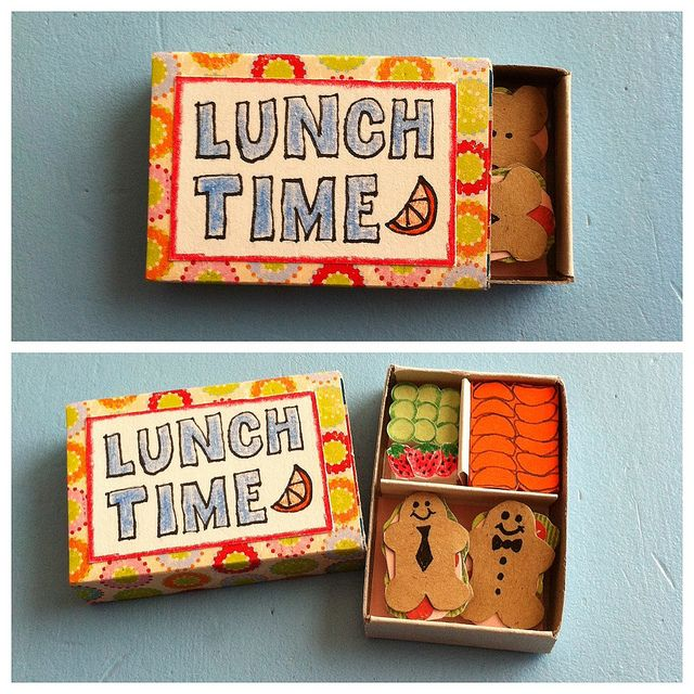 Paper Matchbox Bento Box