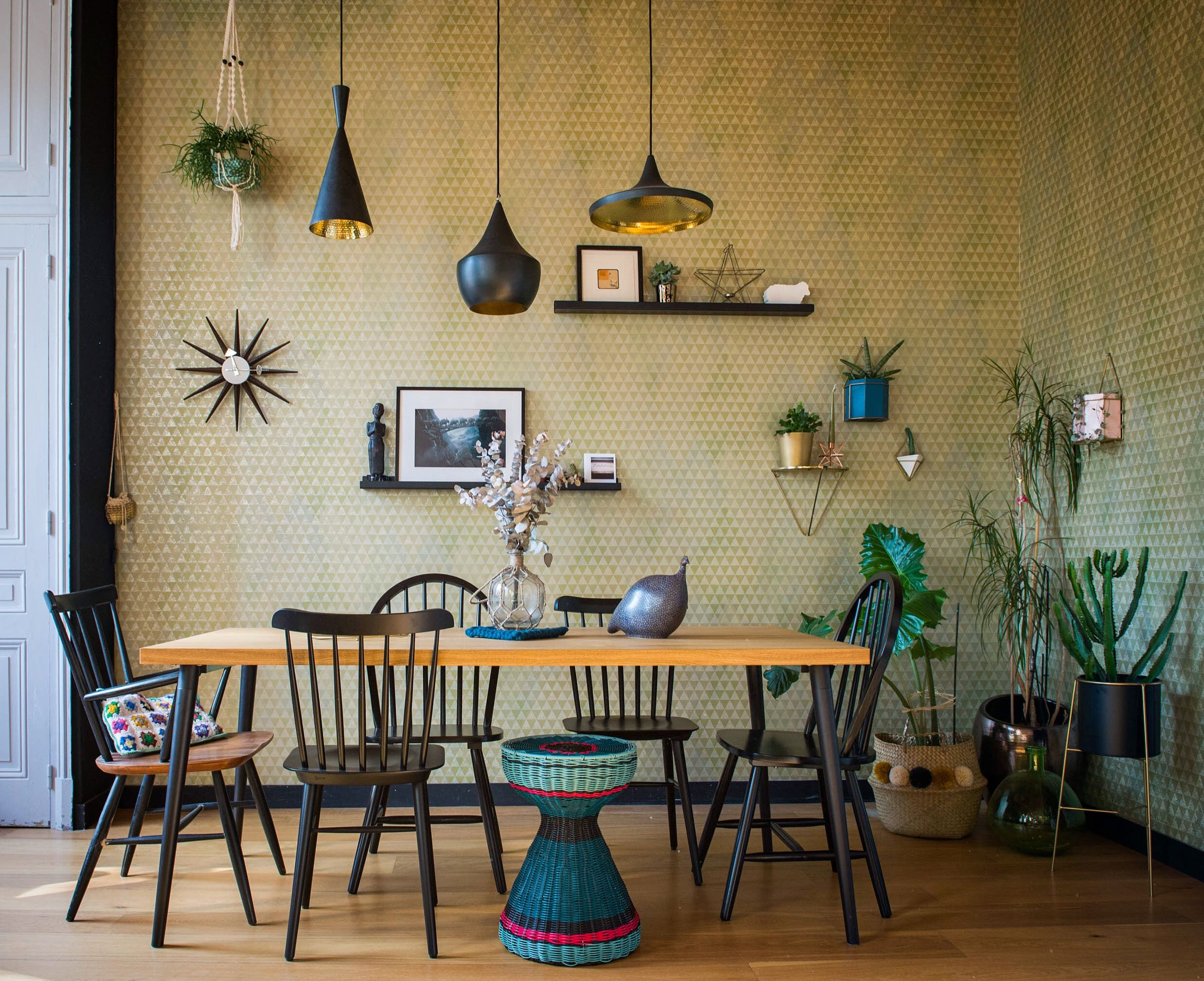 Glam esszimmer dekor a mix of boho country and glamor  stephanies dining room with a