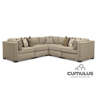 Athens 5 Pc. Sectional   Empirical Comfort. With Its Sandy Taupe Hue And Its Gallery