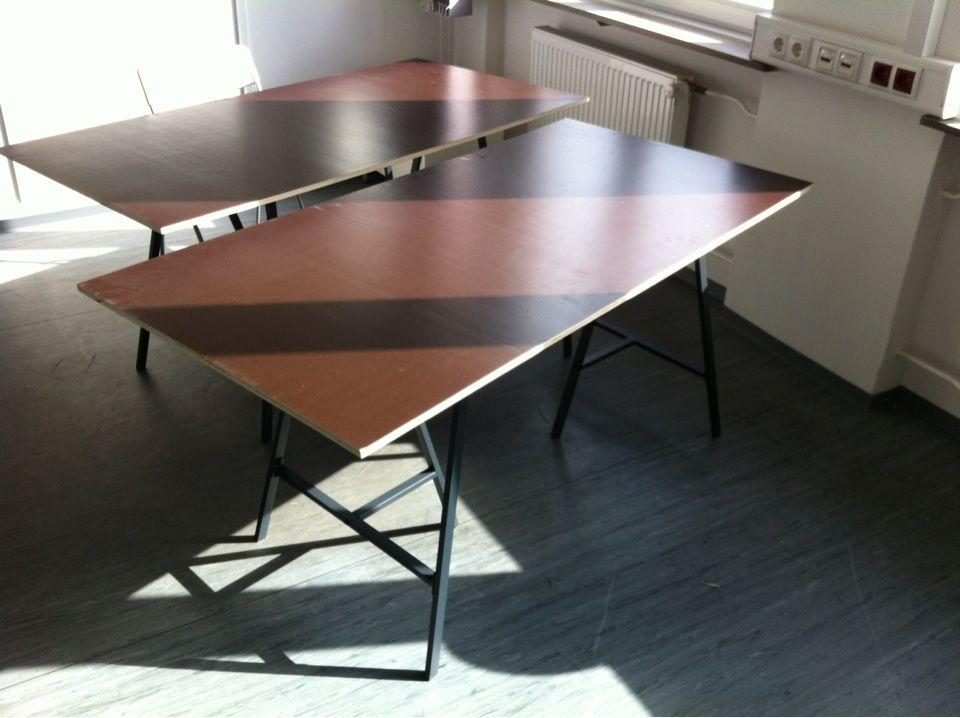 schreibtisch mdf platte 180x75 cm inkl 2x b cke 10x vorhanden preise auf anfrage. Black Bedroom Furniture Sets. Home Design Ideas
