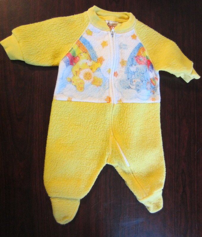 Vintage Care Bear Footed Blanket Sleeper Size 0 6 Months