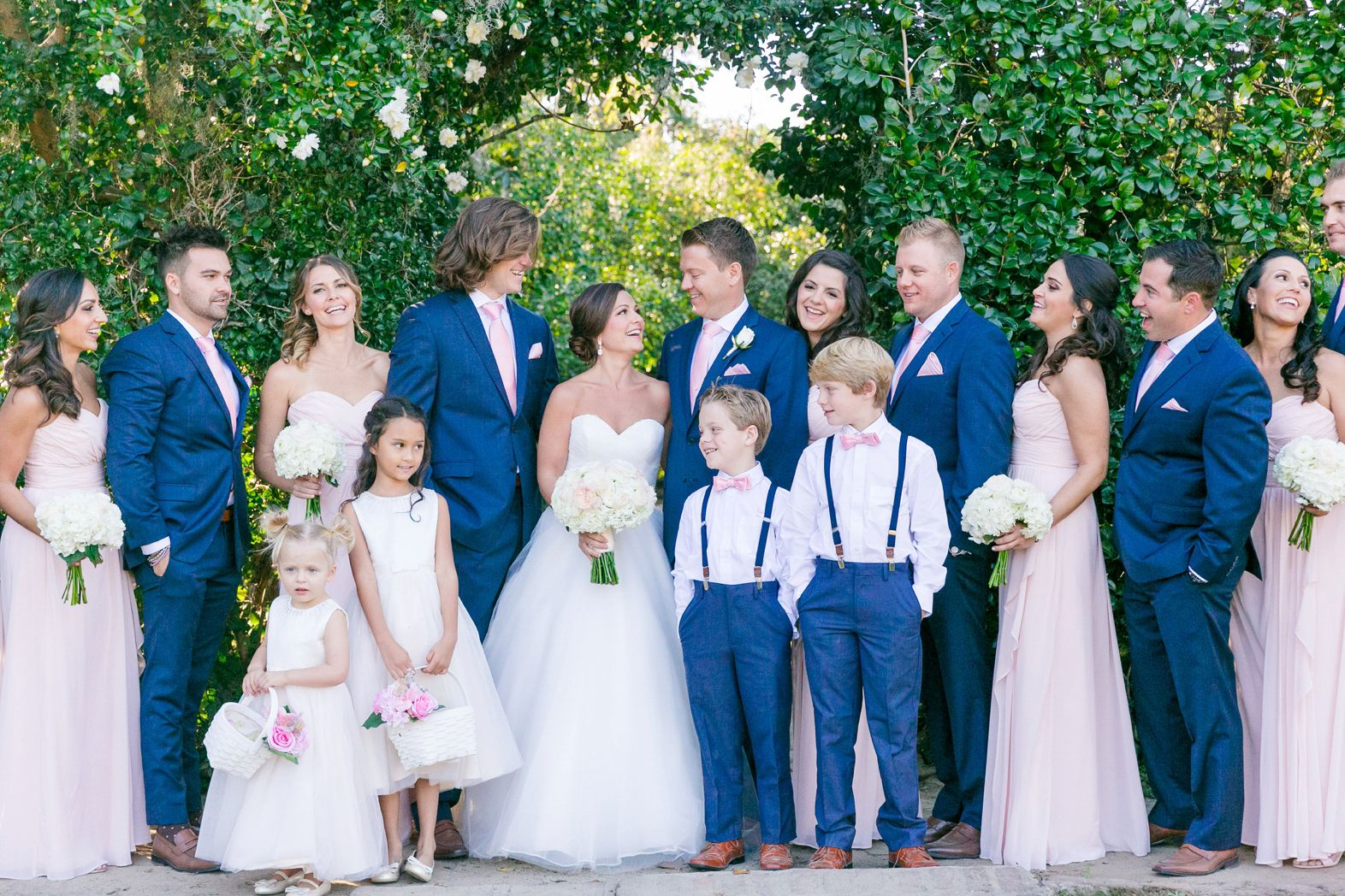 7b80c29e6d0ec Navy Blue Suits with Soft Pink Bridesmaid Dresses | Blush, Ivory, Navy +  Gold Fall Wedding at Middleton Place by Charleston wedding photographer  Dana ...