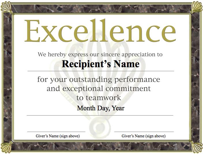 Free printable award certificate template excellence award free printable award certificate template excellence award certificate free yadclub Choice Image