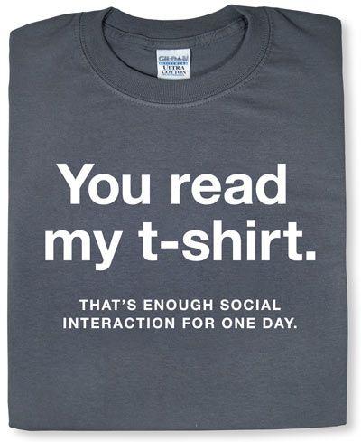 ThinkGeek :: Enough Social Interaction