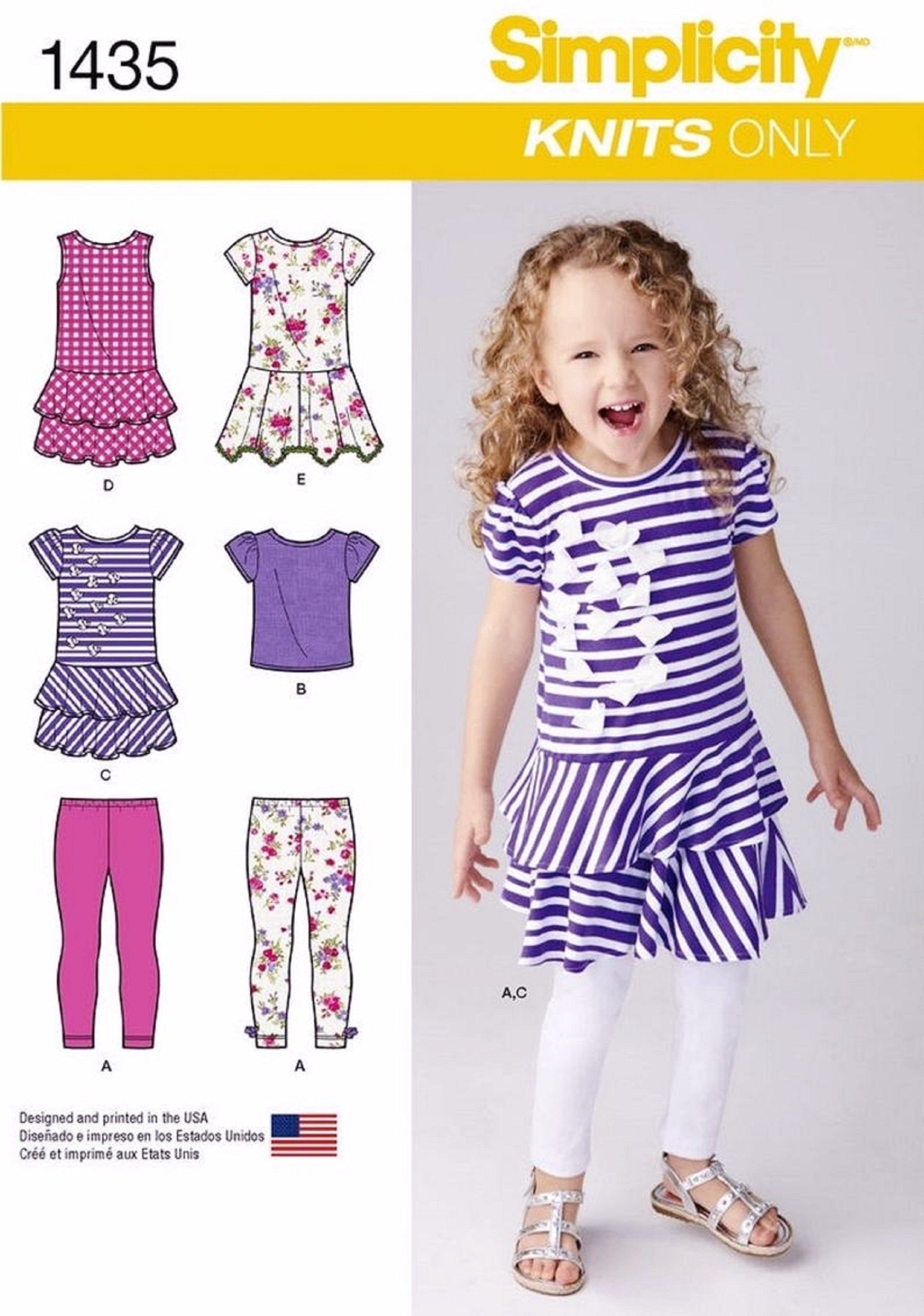 A New Look Sewing Pattern 6961 3-4-5-6-7-8 Child Separates Sizes