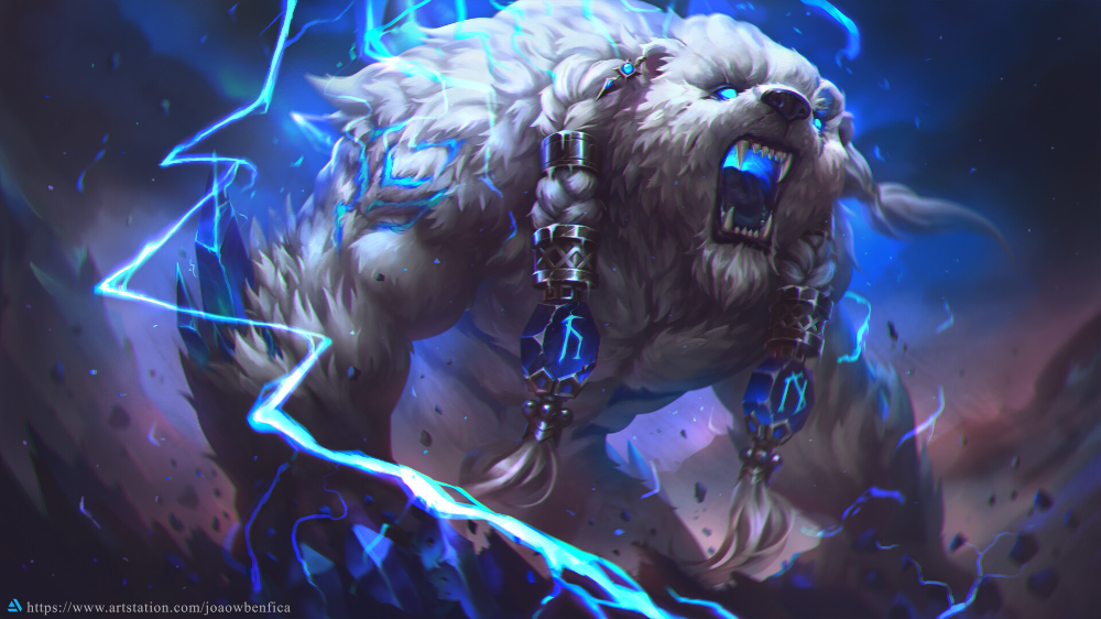 Artstation Volibear Joao Vagner League Of Legends Characters Lol Of Legends Mythical Creatures Art