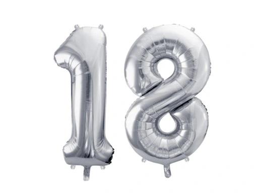 Balony Foliowe Na 18 Urodziny 86cm Srebrne 9099254333 Oficjalne Archiwum Allegro