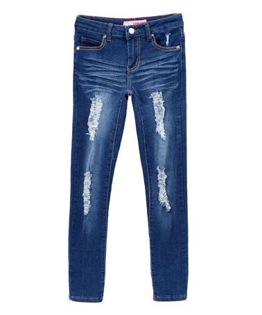 Look at this #zulilyfind! Medium Distressed Wide-Cuff Jeans - Kids & Tween by Cutie Patootie #zulilyfinds