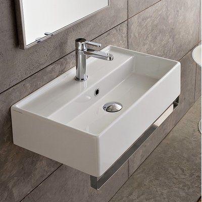 Scarabeo By Nameeks Teorema Ceramic 17 Wall Mount Bathroom Sink