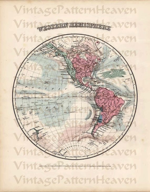 Antique Vintage World Map Printable From From Vintage Pattern - Printable antique world map