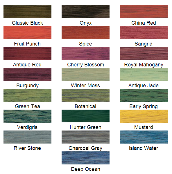 Minwax Solid Color Stain Chart