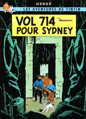Tintin: Flight 714 Buy Art Print Herge • Flight 714