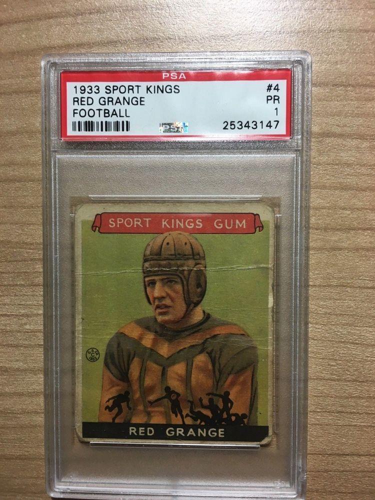 1933 Goudey Sport Kings Red Grange 4 PSA 1 PR Football