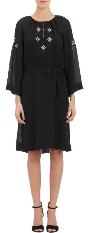 A.P.C. Embroidered Gauze Peasant Dress