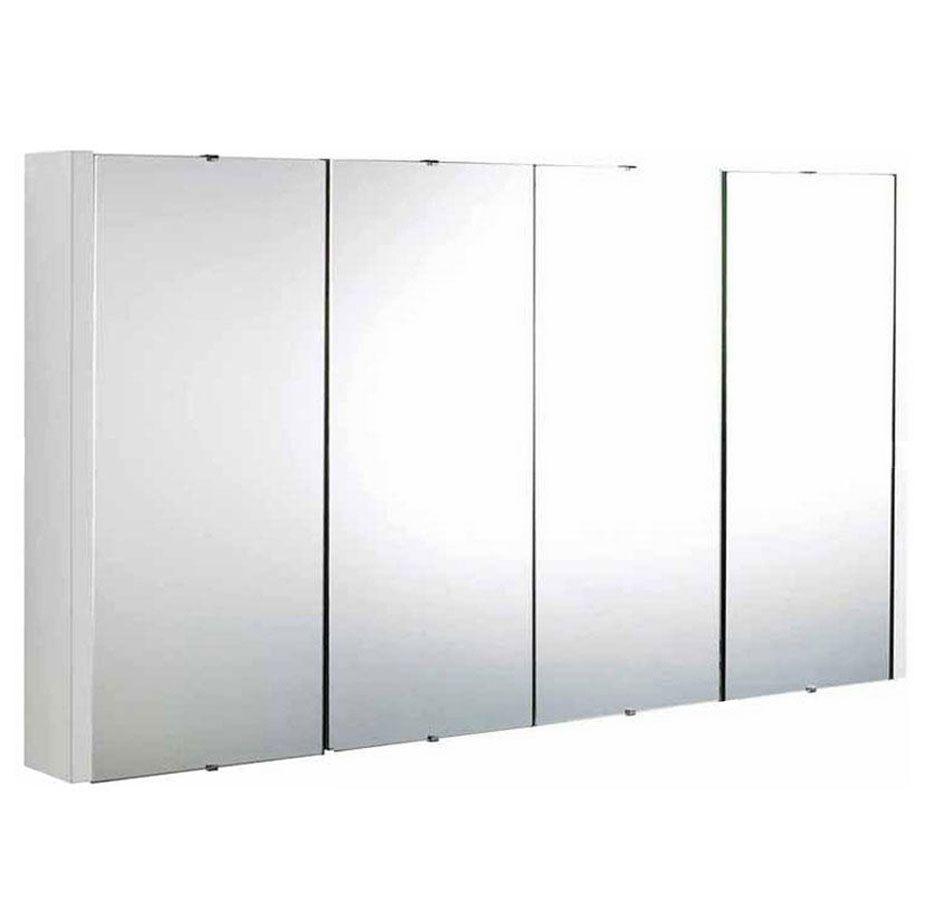 Premier Cardinal 4-Door Mirrored Cabinet, 650mm High x 1200mm Wide ...