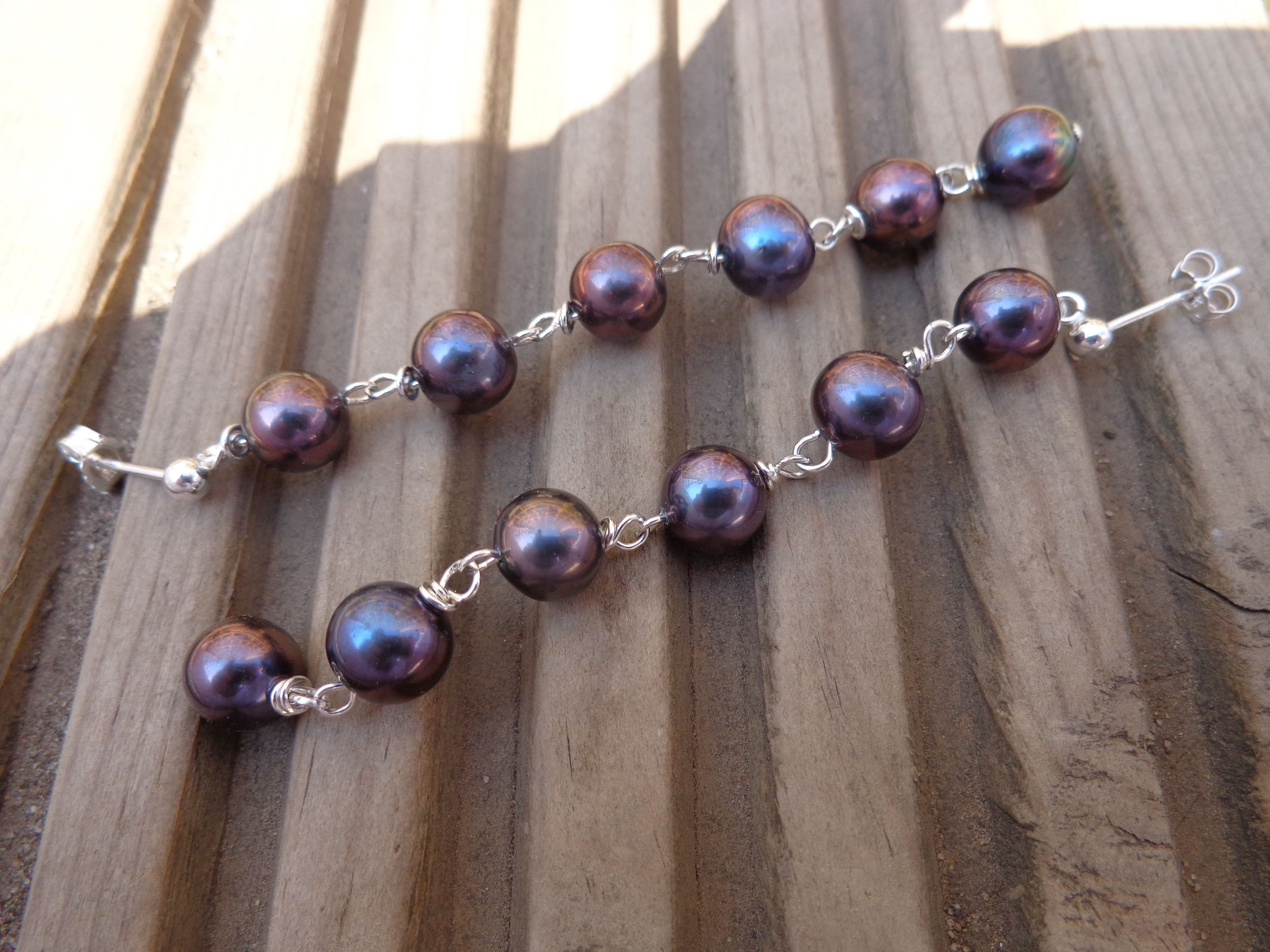 Items Similar To Aaa Black Round 6 Drop Pearl Earrings With Sterling Silver Post Erfly Backs Of Shepherd Hooks And Free Packaging On