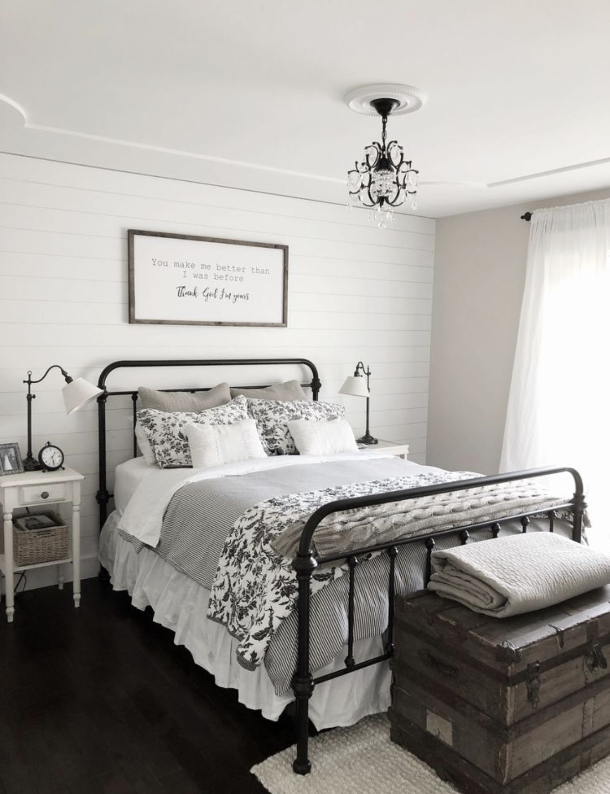 Ticking, floral, gray/black, neutral, cozy Farmhouse